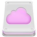 Disk, mobileme, Cloud, drive Gainsboro icon