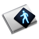 Folder, public, shared Black icon