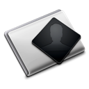 user, Folder, Personal Black icon