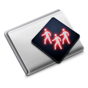 Folder, |, group Black icon