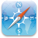 Browser, safari, brower, compass SkyBlue icon