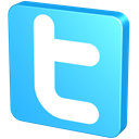 Blue, twitter, twitter button, snap, pin, knob, tack Turquoise icon