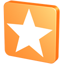 bookmark, mandarin, star, Favorites, Orange, fav, mandarine, Favourites, tangerine, Favorite SandyBrown icon