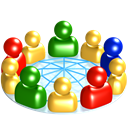 Users, Consulting, round table, group, social network, global, internet, Community, polar, world, Connection, large group, consultation, network, Social, earth Black icon