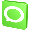 talk, report, new, green, verdancy, hint, vert, Chat, announcement, Bubble, Technorati, forum, Information, Message, Communication, statement, about YellowGreen icon