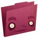 pink, Folder Brown icon
