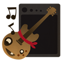 guitar, garageband, Garage band, rock Black icon