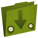 download, Folder, Arrow OliveDrab icon