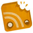 Rss, feed DarkOrange icon