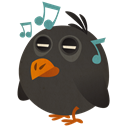 Songbird, bird, music DarkSlateGray icon