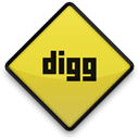 sign, Digg Black icon