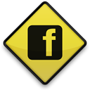 Logo, sign, square, Facebook Black icon