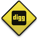 Digg, sign Black icon