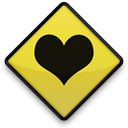 Heart, Favorites, sign, love Black icon