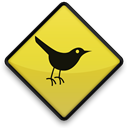 bird, twitter, sign Black icon