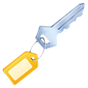 Unlock, private, secure, Key Black icon