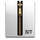 Sit, gold Black icon