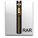 Rar, gold Black icon