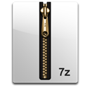 gold, 7z Black icon