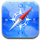 safari DodgerBlue icon