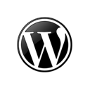 099378, Wordpress Black icon