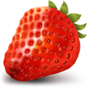 Fruit, healthy, strawberry Firebrick icon