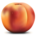 Fruit, Peach Brown icon