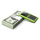 Accounting, receivables, calculator, Business, Cash, Money Black icon