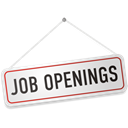 openings, sign, job Black icon