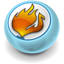 fire, nero SkyBlue icon