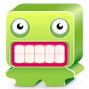 Desesperate, monster, green, scare, ugly YellowGreen icon