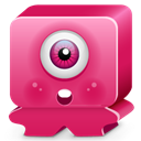 pink, sorprise, monster MediumVioletRed icon