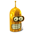 Futurama, robot, Bender, Golden Black icon