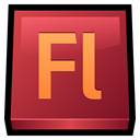 Flash, adobe Brown icon