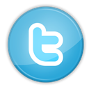 twitter, social media SkyBlue icon