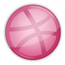 Ball, dribbble, Basket PaleVioletRed icon
