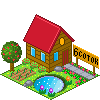 house, garden Crimson icon