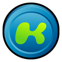 kazaa, Desktop, media Black icon