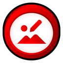 microsoft, office, picture, manager Red icon