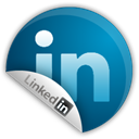 sticker, Linkedin Teal icon