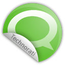 sticker, Technorati Black icon
