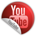 youtube, sticker Black icon