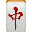 Dragon, mahjong, Chun LightGray icon