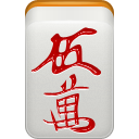 red, Man, mahjong, Dora LightGray icon