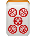 mahjong, red, Dora LightGray icon
