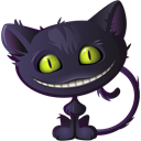 Cat, halloween, cheshire DarkSlateGray icon