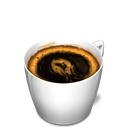 Coffee, food, cup Black icon