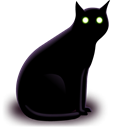 Cat, halloween, two eyes, Animal Black icon