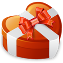 love, Heart, valentine's day Firebrick icon