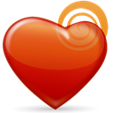 valentine's day, Heart, love Firebrick icon